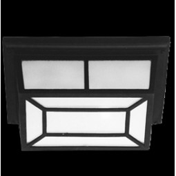 Black Frosted Glass, Die Cast Aluminium